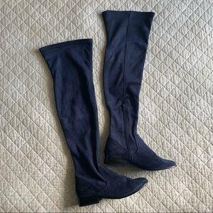 Aldo Elinna-4 Over The Knee Boots Dark Navy